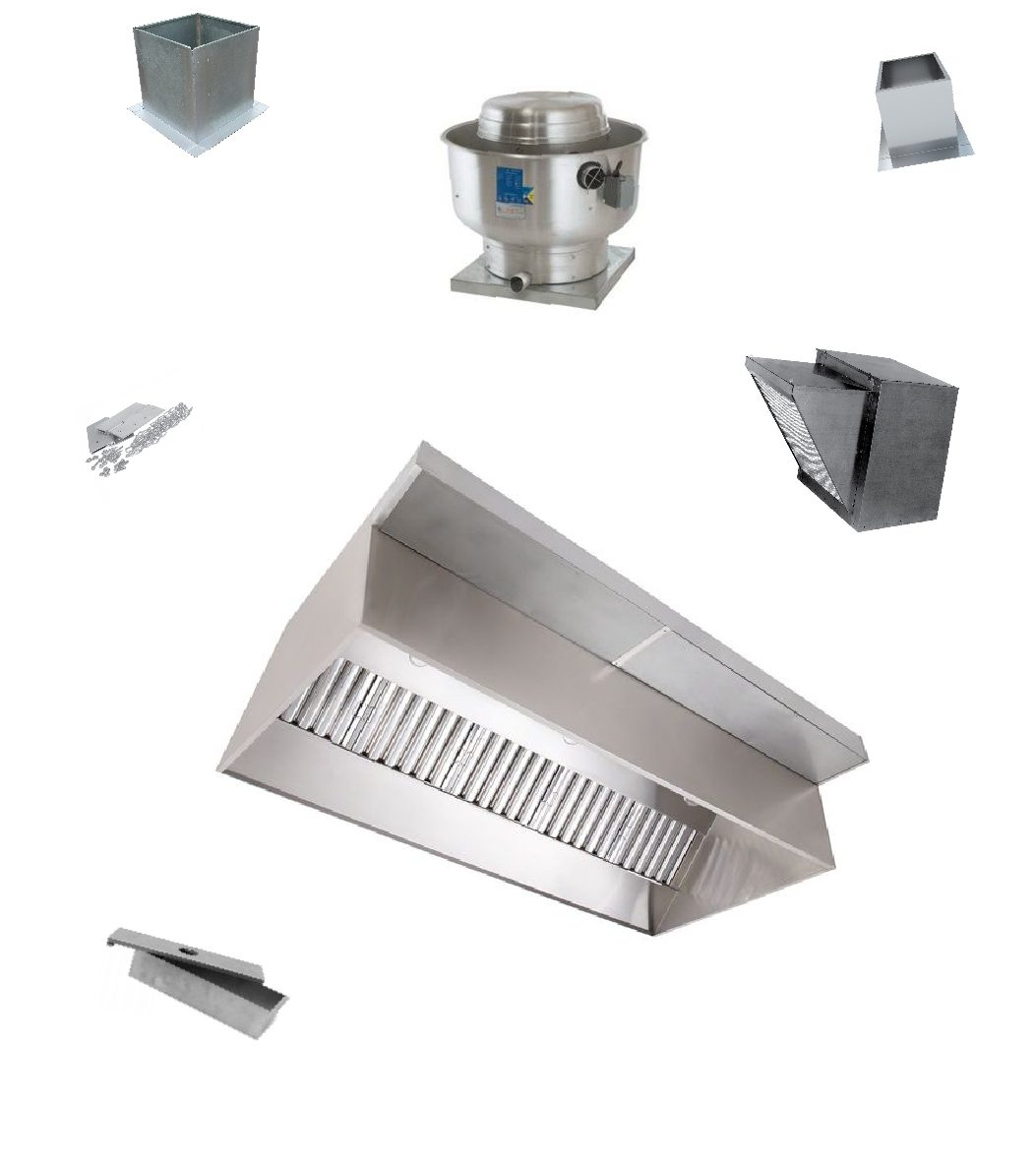 10 39 X 48 X 24 Short Cycle Commerical Kitchen Exhaust Hood System All Around Industry Supply