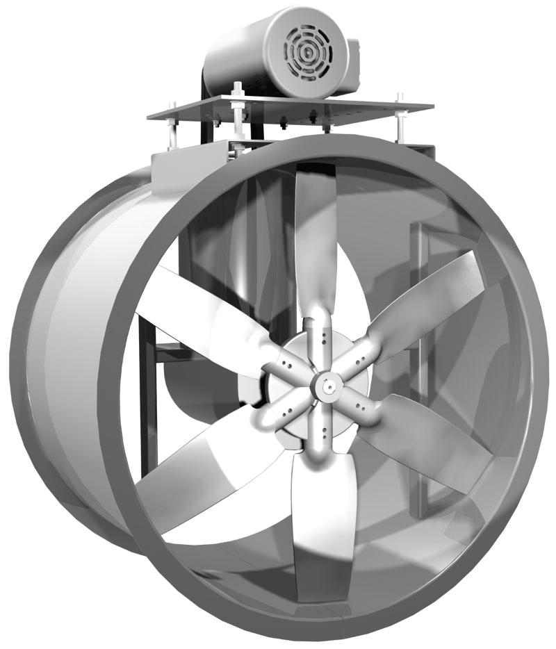 Direct Drive Propeller Fan : Adb tube axial fan cast aluminum propeller belt drive