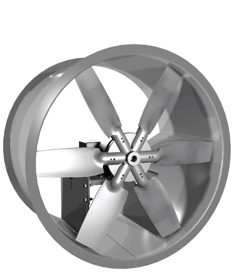 Direct Drive Propeller Fan : Add tube axial fan cast aluminum propeller direct drive