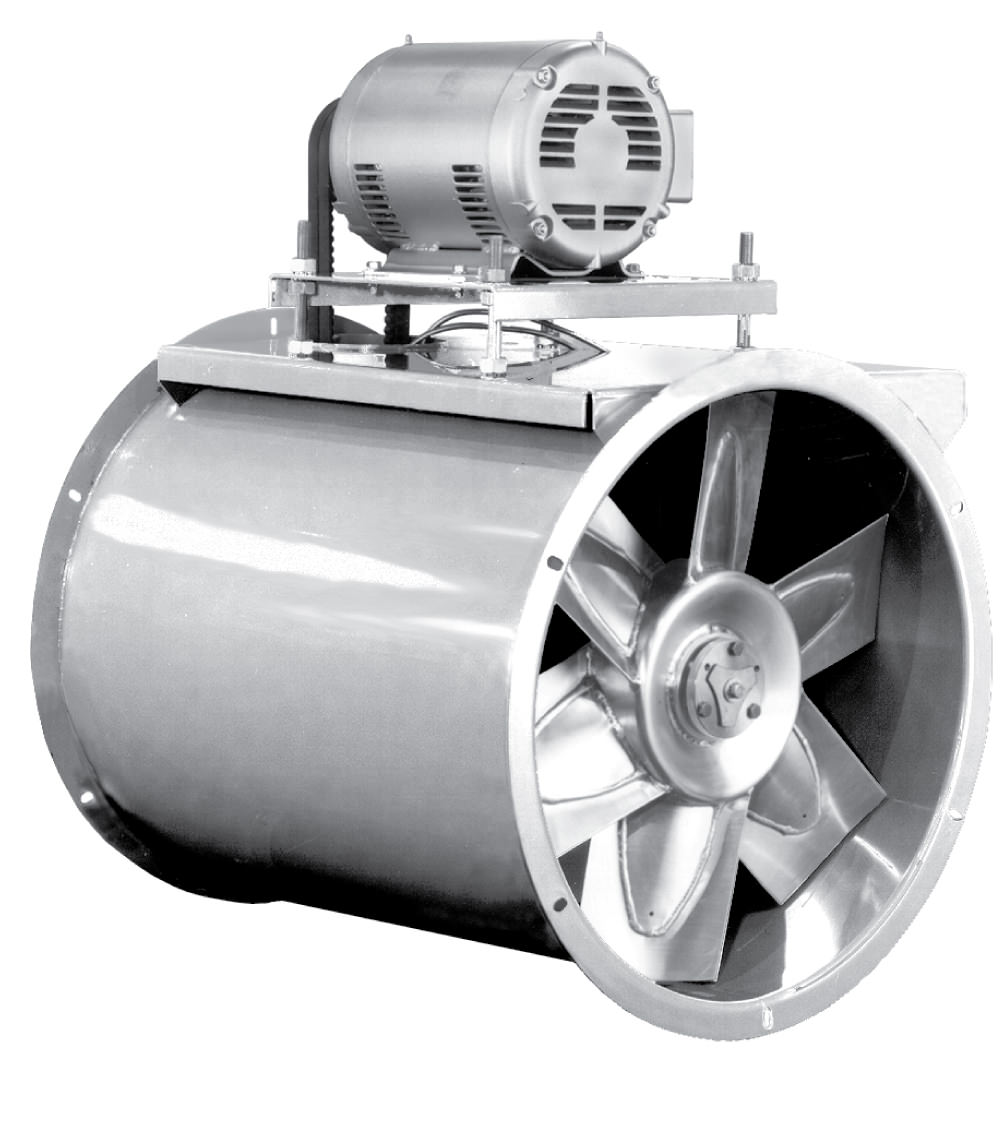 Tube Axial Fans : Afb s tube axial fan stainless steel belt drive all