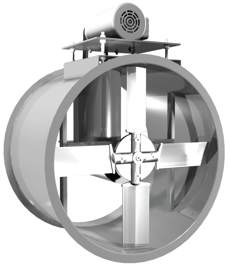 Direct Drive Propeller Fan : Edb tube axial fan extruded aluminum propeller belt