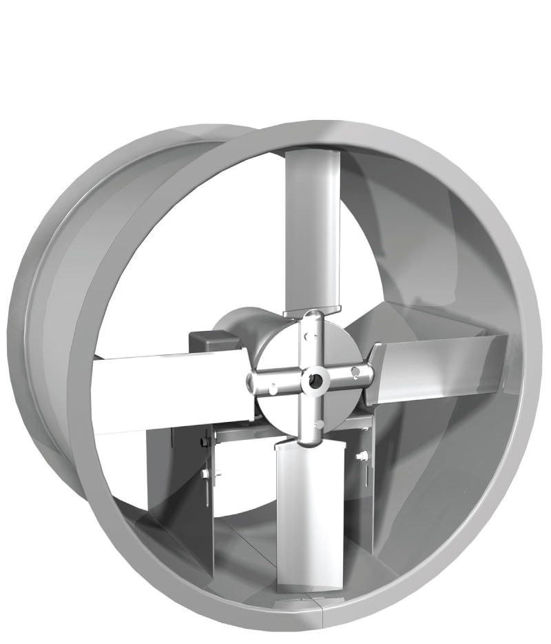 Direct Drive Propeller Fan : Edd tube axial fan extruded aluminum propeller direct