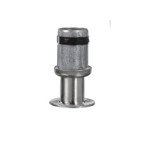"1-5/8"" Round Stainless Steel Clad Zinc Die Cast Adjustable 2"" Reduced Flanged Foot Insert"