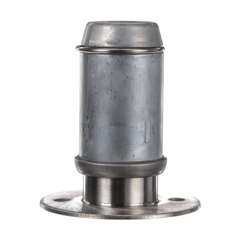 """2"""" Round Stainless Steel Clad Zinc Die Cast Adjustable Flanged Foot Insert With Mounting Holes"""