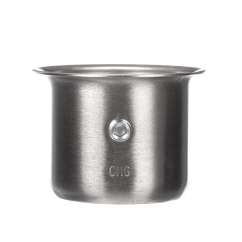 """1-5/8"""" x 1-3/4"""" H Stainless Steel Leg Socket With Flanged Top"""