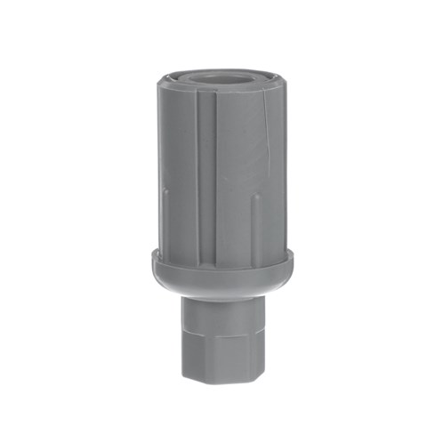 """-5/8"""" Round Gray Thermoplastic Adjustable Hex Foot Insert"""