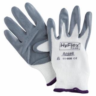 012-11-800-6 HyFlex Foam Gloves, 6, Gray/White