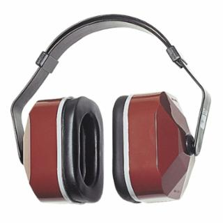 247-330-3002 E-A-R Muffs, 25 dB NRR, Maroon, Wr Over Hd, Behind Neck, Under Chin