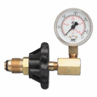 312-G-584 Cylinder Pressure Teing Gauges, Nitrogen; Argon; Helium, Brass, CGA-580