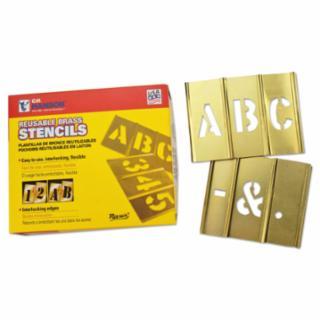 337-10036 33 Piece Single Letter Sets, Brass, 6 in
