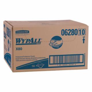 412-06280 WypAll X80 Foodservice Towel, Kimfresh Antimicrob Hydroknit, 12.5 x 23.5
