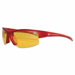 412-21299 Equalizer* Safety Eyewr, Amber Lens, Polyrbonate, Anti-Scratch, Red Frame