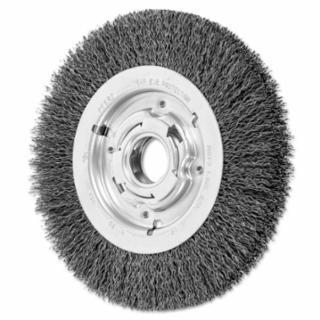 419-81128 Medium Crimped Wire Wheel Brush, 8 D x 1 1/16 W, .014 rbon eel, 4,500 rpm