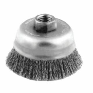 419-82516 Crimped Cup Brush, 6 in Dia., 5/8-11 Arbor, 0.014 in eel Wire