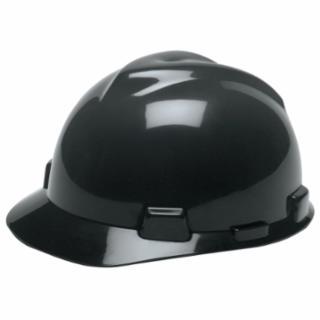 454-492559 V-Gard Protective Hats, Fas-Trac Ratchet, Hat, Black