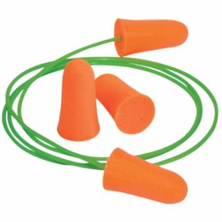 507-6820 Mellows Foam r Plugs, Polyurethane, Bright Orange, Uncorded