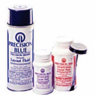 605-50181 Precision Blue Layout Fluids, 8 oz Brush-In-p, Blue