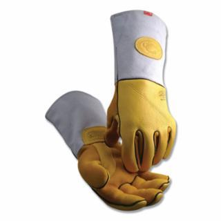 607-1485-L 1485 Series Gold Elk Grain Hvy-Duty Welding Gloves, Wool, Large