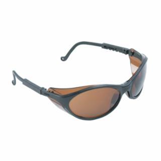 763-S1603 Bandit Eyewr, Espresso Lens, Anti-Scratch, HC, Ultra-dura, Black Frame